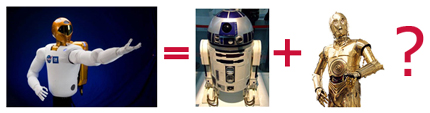 R2 (c) NASA, R2D2 and C3PO (c) Lucasfilm